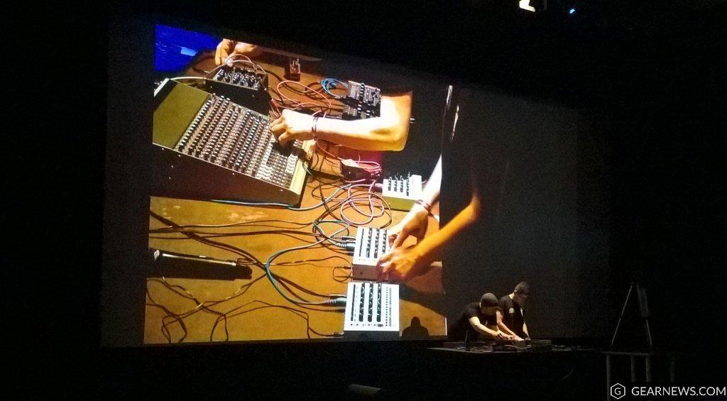 MFB performing in the auditorium